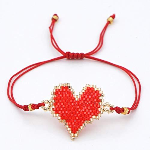 N/A Pulsera Pulsera deHilo Rojo, joyería, Pulseras de la Amistad para Mujer, Pulseras de corazón, joyería Boho, Regalo Hecho a Mano Regalo de cumpleaños de Navidad