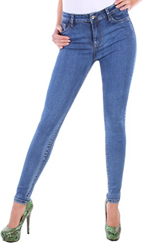 Black Denim BD Stretch Jeans Damen Hose High Waist Hochschnitt...