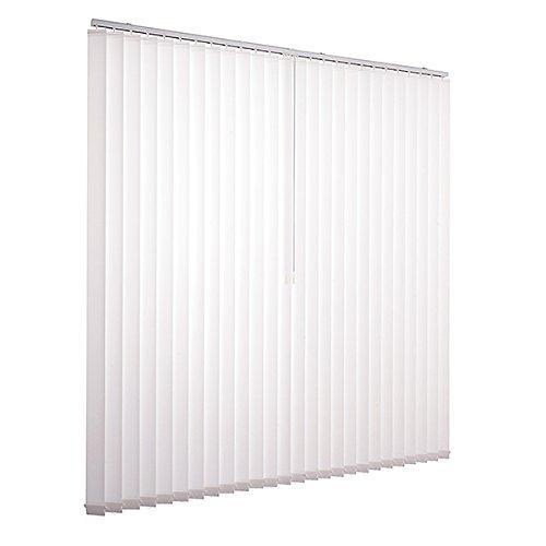 Lamellenvorhang raumverdunkelnd 100% Komplettset Vertikaljalousie 89mm inklusive Montagematerial (Weiß, 300 x 250 cm)