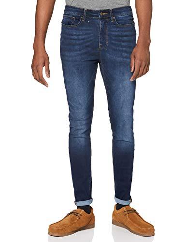 find. Vaqueros Super Skinny Hombre, Azul (Indigo Indigo), 36W / 32L, Label: 36W / 32L