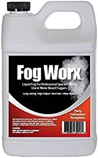 FogWorx Fog Juice - 1 Gallon of Organic Fog Fluid (128 oz) - Medium Density, High Output, Long Lasting Fog Machine Fluid for 400 Watt to 1500 Watt Machines