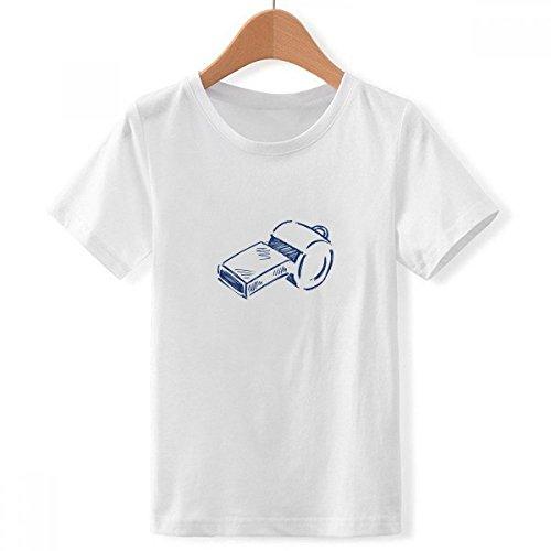 DIYthinker Silbato de fútbol de Dibujos Animados de fútbol con Cuello Redondo de la Camiseta para Chico Medio