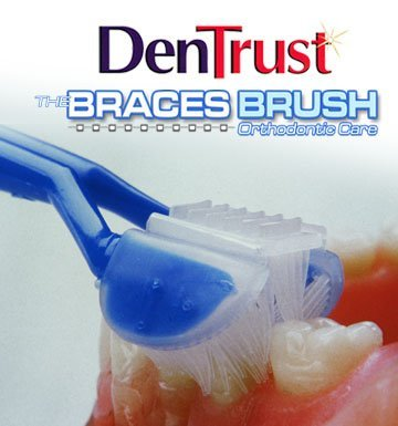 6-PK :: Dentrust 3-Sided Braces Toothbrush :: Clinically Proven Better for Orthodontic's :: Easily Cleans Around Brackets :: Rubber Bands Bracket :: Archwire Retainer Headgear Decalcification
