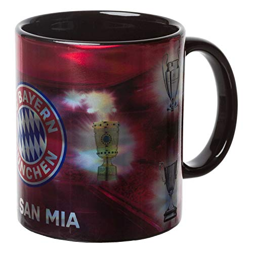 FC Bayern Tasse Metallic - Erfolge - Kaffeetasse, Becher, Coffee Mug FCB - Plus Lesezeichen I Love München