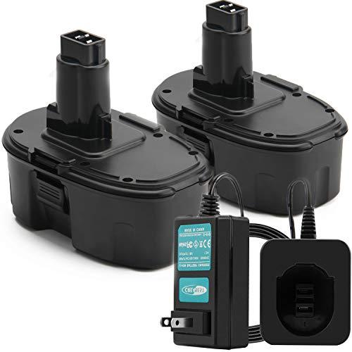 Creabest 18V 3.5Ah for Dewalt Battery DC9096 DW9099 XRP DC9181 DW9098 DC9099 DC9098 DW9099 DE9098 DE9503 DW9095 DE9096 DE9503 DE9098 DC9181, Include one Ni-MH 1.2V-18V Charger