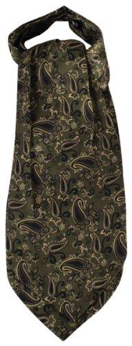 Knightsbridge Neckwear Dark Green Paisley Silk Cravates de