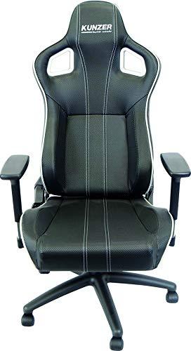 Kunzer Racing Bürostuhl, schwarz/Weiß, One Size