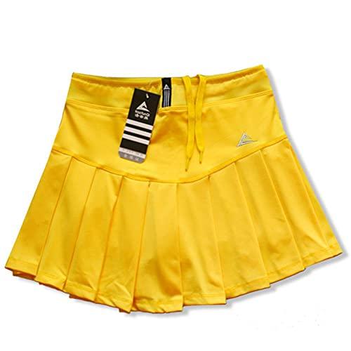 XMYNB Sportrock Mädchen Tennis Röcke Mit Sicherheitshorts, Schnelltrockner Frauen Badminton Rock, Weibliche Tenniskorn, Mädchen Sport Laufen Shorts