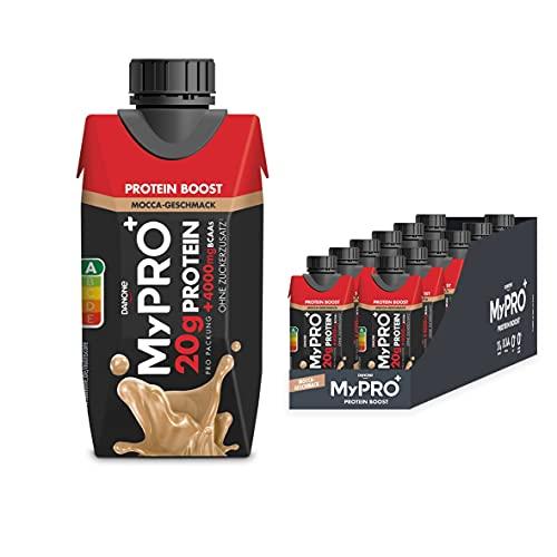 Yoothie Mypro plus Proteindrink Boost Mokka Geschmack, 200 ml