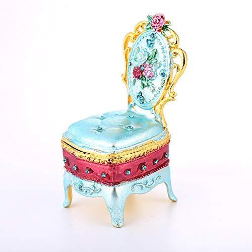 De enige goede kwaliteit Meubels Kruk Metalen Sieraden Doos Ring Doos Van Huwelijk Geschenken Home Accessoires Ornamenten Dresser 4 * 3.5 * 8CM