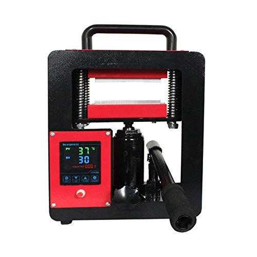 QWERTOUY 6x12cm 2.4x4.7 Double Chauffage Plaques hydraulique Rosin Machine de Presse 5ton même écran de Pression de Commande Tactile Huile extracteur