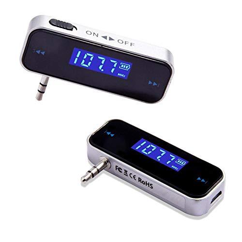 for 3.5mmのワイヤレスミニカーラジオ音楽オーディオ 高品質音質 カーFMトランスミッターハンズフリー LCD表示機能 USB充電式 ラジオ 音楽3.5MMオーディオヘッド for iphone/ipad/android 対応 アンドロイド タブレット MP3 スマホ