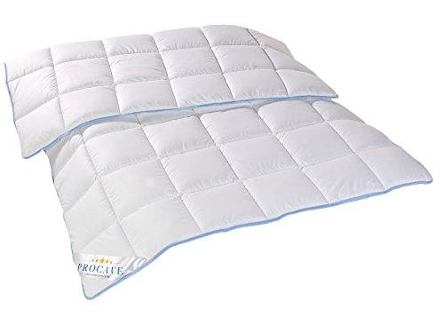 PROCAVE   TopCool Qualitäts-Kinder-Bettdecke für das ganze Jahr   Entspannt schlafen - absorbiert Körperfeuchtigkeit   Atmungsaktive Steppdecke in weiß in 100x135 cm