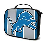 ALHOKLAus Portable Cosmetic Bag Detroit Lions Fashion Travel Cosmetic Bag, Makeup Tool Storage Bag, Tool Box, Travel Cosmetic case 9.8x3.15x7.5 in