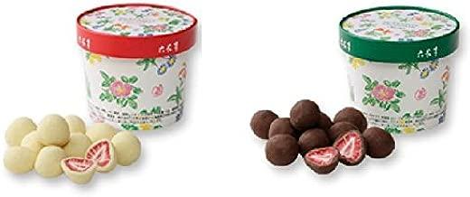 【六花亭】新サイズ ストロベリーチョコ 100g ホワイト&ミルクセット