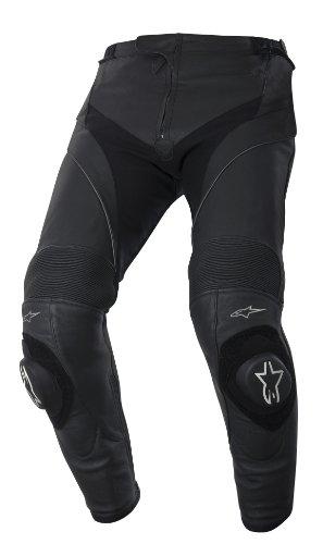 Alpinestars Missile Lederhose, Farbe schwarz, Größe 56