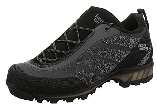 Hanwag Ferrata Light Low-Cut 2020 - Scarpe da uomo asfalto, colore: nero, (Nero asfalto), 44 EU