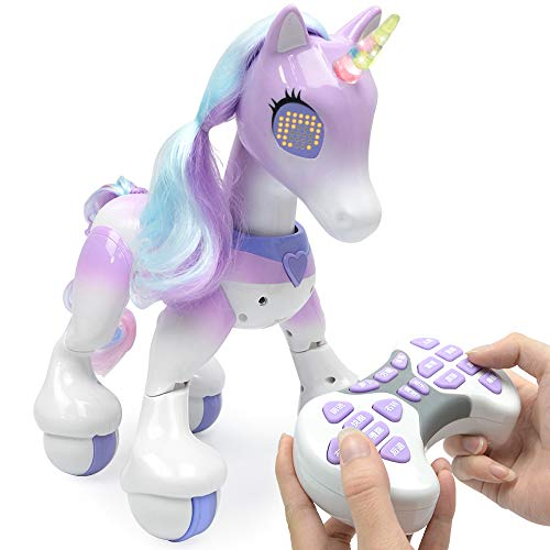 ACOC Remote Control Unicorn - Electric Smart Horse, Touch Induction Electronic Pet, Features Include Children's Songs, Dancing, Stories, Sleep, Programming, Children's Toy Gift