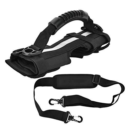 SANON Universal Canvas Scooter Hand Carrier Handle Strap Belt Negro para Brompton Plegable Bicicleta Ciclismo Accesorio 27Cm de Longitud