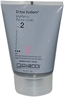 GIOVANNI HAIR CARE PRODUCTS D:TOX SYSTEM,FACIAL SCRUB, 4 OZ