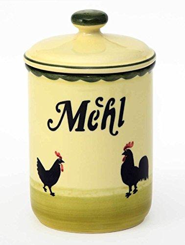 Zeller Keramik Hahn und Henne Vorratsdose Mehl 1 Liter