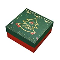 NUOLUX クリスマスギフトボックス紙箱お菓子箱チョコレートラプボックスクリスマスクッキークリスマスツリークッキーギフト(クリスマスツリー)