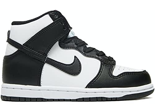 Nike Dunk High Panda Black White Red TG. 35
