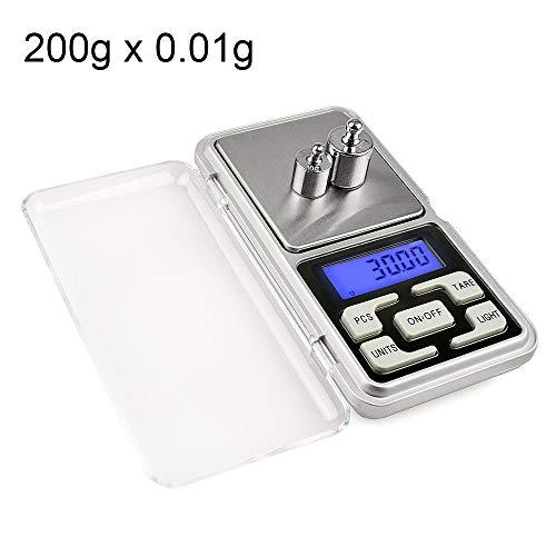 baggies 0,01g zakweegschaal digitale weegschaal goed verkocht MH-200 200g x 0,01 g hoge nauwkeurigheid digitale elektronische mobiele mini-zakschaal weegschaal mobiele telefoon weegschaal met 1,6-inch LC