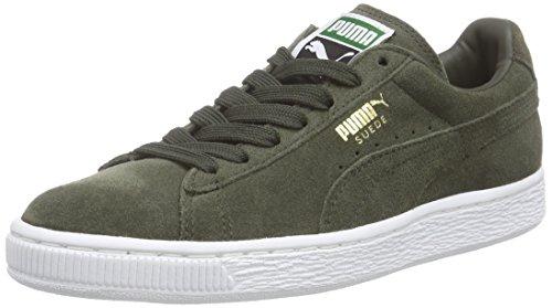 Puma Suede Classic +, Unisex-Erwachsene Sneakers, Grün (forest night-white 65), 37 EU (4 Erwachsene UK)