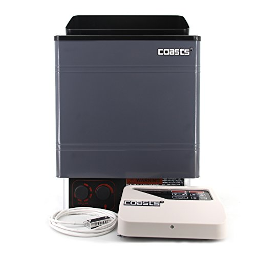 ALEKO Coasts AM60MID4 Sauna Heater 6 kW 240V CON 4 Digital Controller Galvanized Sheet Shell for Spa Sauna Room