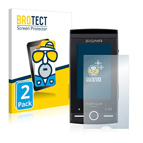 BROTECT 2X Entspiegelungs-Schutzfolie kompatibel mit Sigma ROX 12.0 Sport Displayschutz-Folie Matt, Anti-Reflex, Anti-Fingerprint