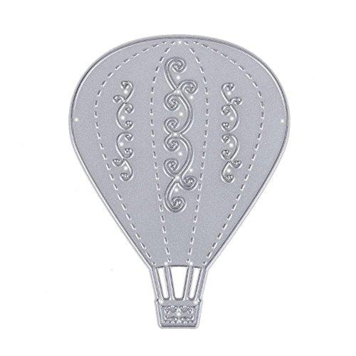 Domybest sjablonen voor scrapbooking, hete luchtballon, staal, carbon, zilverkleurig