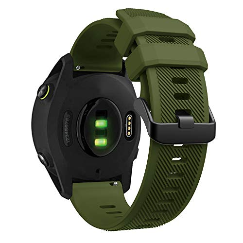YASPARK Correa para Forerunner 745/Huawei Watch GT 2 46mm, 22 mm Correa de Silicona Correa para Galaxy Watch 46mm/Gear S3 Frontier/Classic/Galaxy Watch 3 45mm
