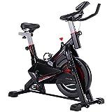 Boutique de Hanks Fitness vélo d'intérieur insondables vélo Spinning avec siège réglable, poignée, Porte-gobelet, Téléphone Roving, Support Tablet PC, Moniteur LCD Mien Poids 120 kg (Color : Color1)