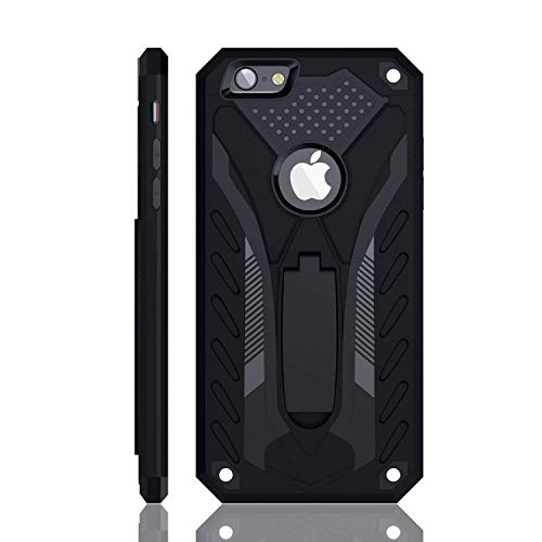 iPhone 6 / iPhone 6S Case, Military Grade 12ft. Drop Tested Protective Case with Kickstand, Compatible with Apple iPhone 6 / iPhone 6S - Black