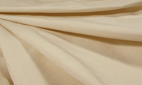 Buy Discount Organic Cotton Sateen - 500 Thread Count - Natural - 20 Yards