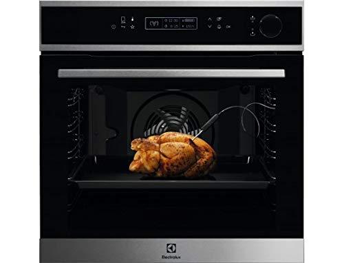 Electrolux EOC8P21X - Horno multifunción con función de vapor, 72 litros, 90 recetas automáticas, acero inoxidable, puerta...