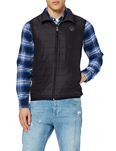 Napapijri Herren ACALMAR Vest 3 Jacke, Schwarz (Black 0411), Large (Herstellergröße:L)