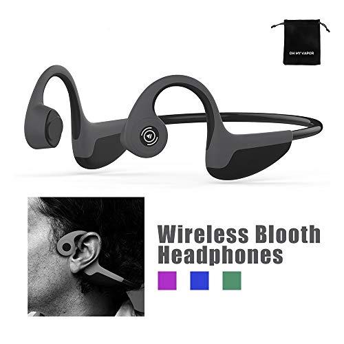Bluetooth 5.0 Knochenschall Kopfhörer Sport Funkkopfhörer Kabellos Wasserfest Headphones mit Mikrofon für Laufen, Radfahren und Fahren
