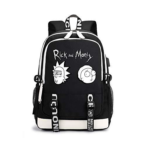 Rick Morty Mochila Casual Impresa Elegante Bolso de Escuela Bolsa de Viaje de al Aire