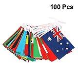 HEALLILY banderas internacionales bunting banner 100 países banderas mundiales banderas pequeñas banderas colgantes para decoración de bares