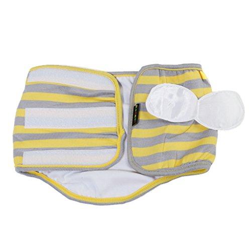 Homyl Pet calça masculina de algodão fisiológico, roupa íntima sanitária, faixa de barriga, faixa de fralda/estampa de camuflagem P/G