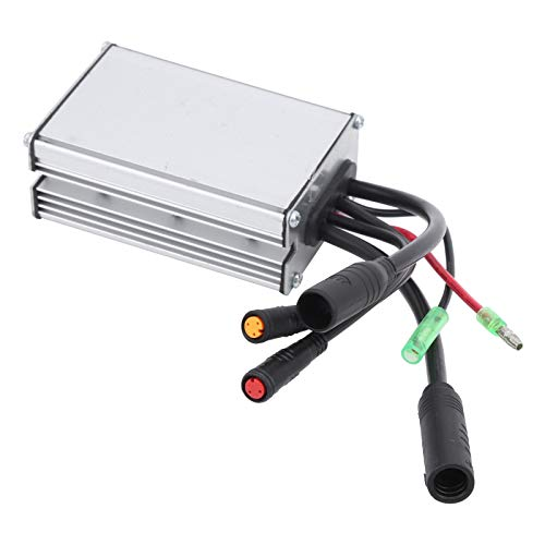 Alomejor EBike Brushless Controller 6 Rohr 36/48V KT-17A Motor Rechteck Controller Wasserdichter Kontakt mit Lichtkabel