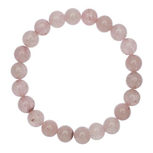 Unique Damen Chakra Buddha Perlen Armband 8mm Rosenquarz Edelstein Energiearmband Heilsteine dehnbar Juweliers Qualität