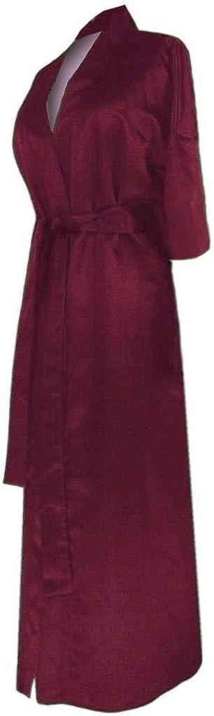 Sanctuarie Designs Plus Size Women's Burgundy Soft Satin Robe