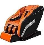 CSPFAIZA 8D Massagesessel Intelligent Elektrisches Sofa mit Wärmefunktion, 3D Surround Sound, Shiatsu-Massage, Ganzkörper Kneten - Orange