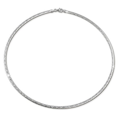 SilberDream Halskette für Damen aus 925er Sterling Silber - Collier Kette - Muster Halsreif - 42cm - SDK22942J