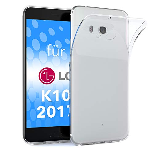 Preisvergleich Produktbild EAZY CASE LG K10 (2017) Schutzhülle Silikon,  Ultra dünn,  Slimcover,  Handyhülle,  Silikonhülle,  Backcover,  Durchsichtig,  Klar Transparent