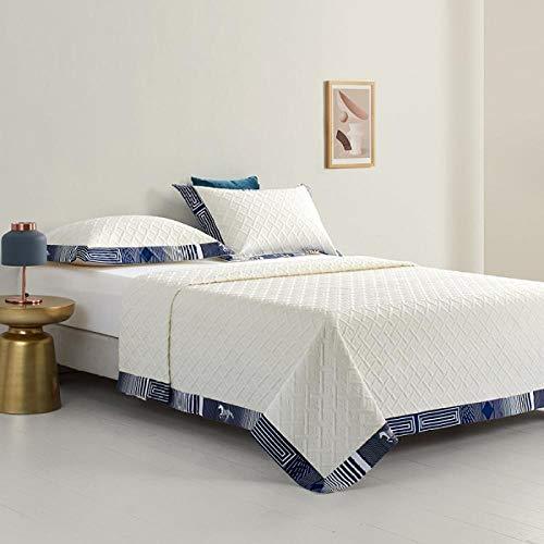 Rubyurphy Couette lavable multifonctionnelle, Couverture de Pause déjeuner de Bureau d'été, Couverture de couchage de canapé-Blanc_245x245cm