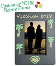 FRESHeTECH Slate Picture Frame Chalkboard - Great for Photo Notes with Chalk 8 1/4 x 6 1/4 Decorate and Design with June and May